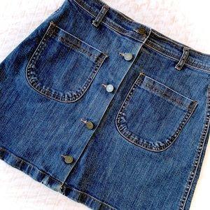 BLOSSOM H COMPANY A-Line Denim Skirt